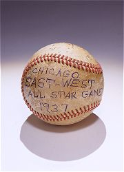 A baseball from the Negro League's 1937 East-West All-Star game.